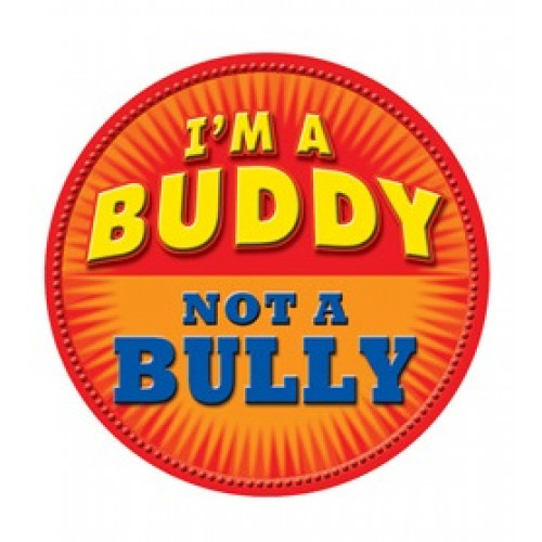 I'm a Buddy - Not a Bully - Orange Temporary Tattoo