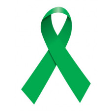 Green Ribbon Temporary Tattoo