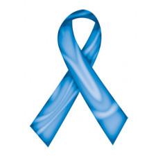 Blue Swirl Ribbon Temporary Tattoo