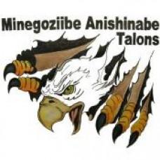 """Minegoziibe Anishinabe School """"Talons"""" Temporary Tattoo"""