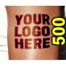 500 Custom Temporary Tattoos