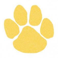 Yellow (Gold) Glitter Paw Print Temporary Tattoo