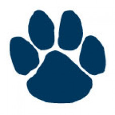Navy Blue Paw Print Temporary Tattoo