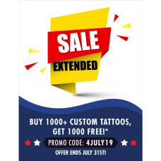1,000 Custom Temporary Tattoos